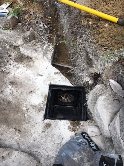 french drain during construction