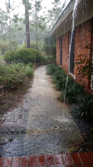 heavy rainfall causing flooding