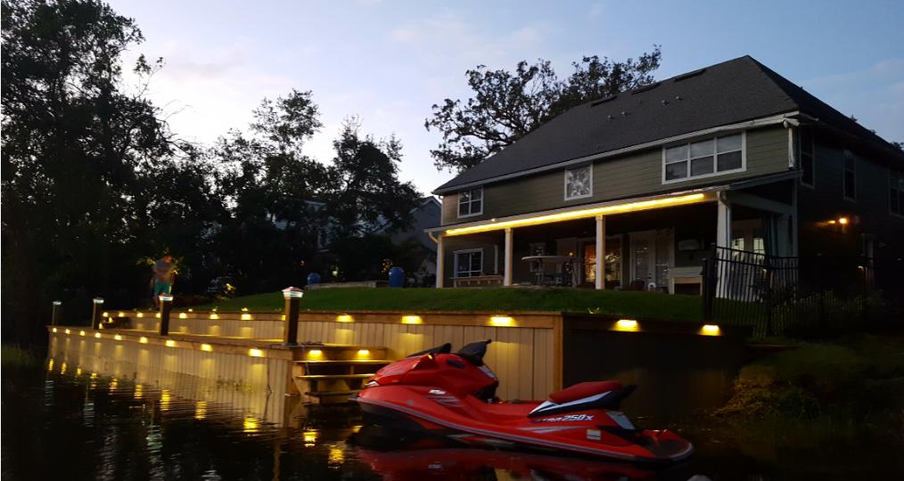 deck and seawall lighting