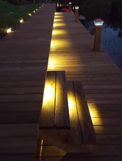 step lighting on deck or dock