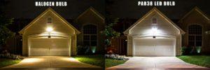 halogen versus led bulb landscape lighting