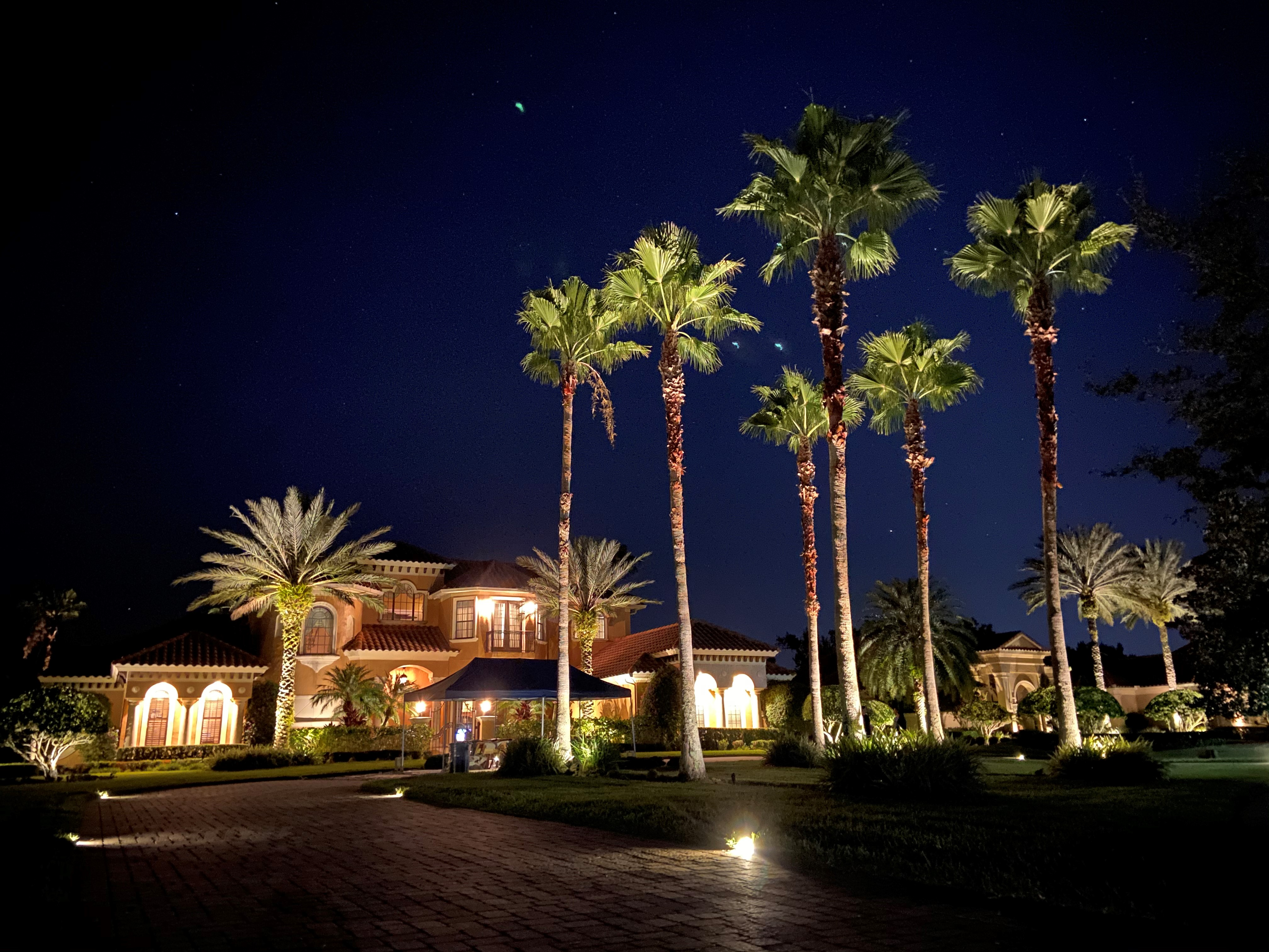 residential low-voltage landscape lighting installation