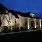 New Landscape Lighting on Modern Farmhouse