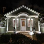 landscape lighting on residential home